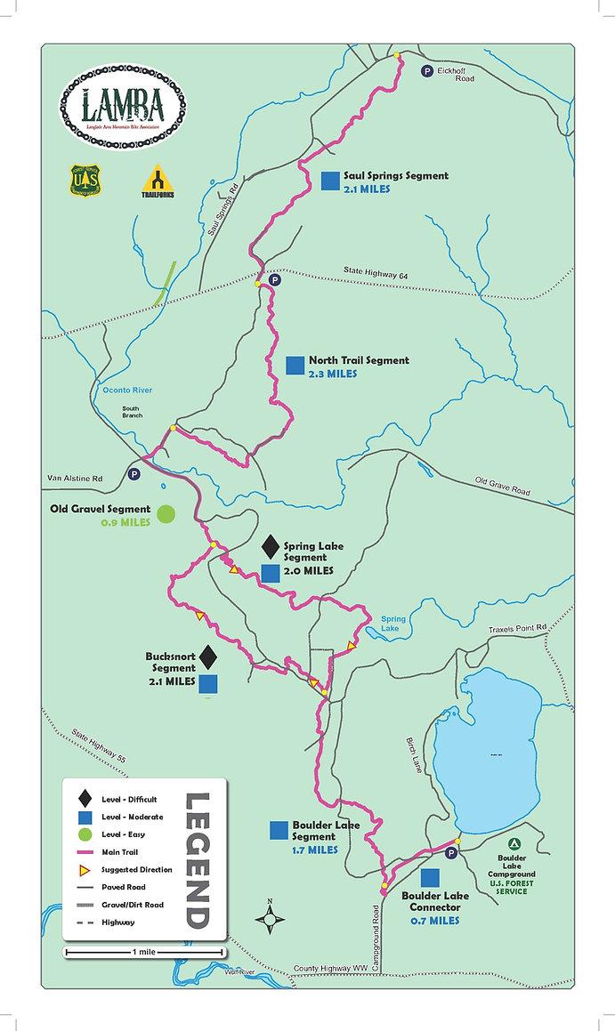 LAMBA NIC TRAIL MAP 10.5 X 18 WITH TRIM
