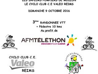 DIMANCHE 9 OCTOBRE 2016 - 3ème RANDONNEE VTT (SP Muizon/CYCLO CLUB C.E VALEO Reims)