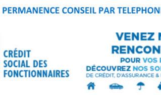vendredi 16 avril 2021 - Crédit social des fonctionnaires - Permanence Conseil par téléphone
