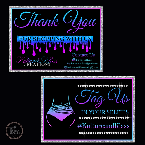 Thank you Cards (Design Only)