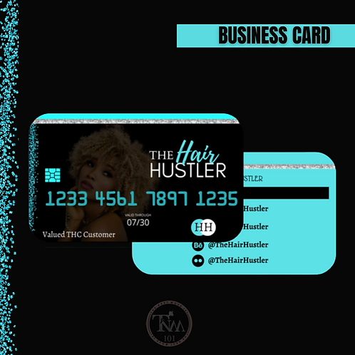Credit card business cards (Design only)