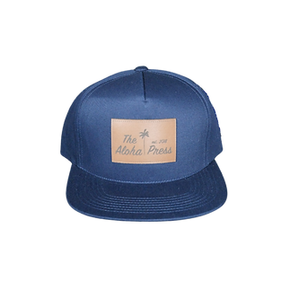 Navy Flat Bill Aloha Press Hat