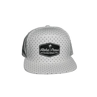 the aloha press white dot hat.png