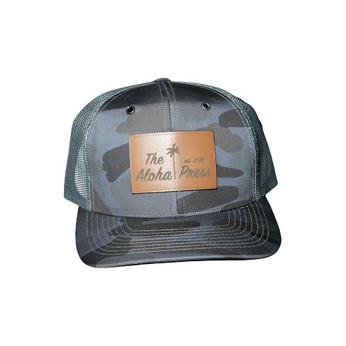 Black Camo Trucker Hat
