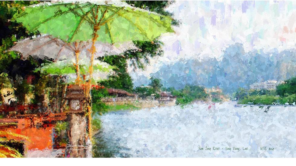 Nam Song River Vang Vieng Laos 005 Painting