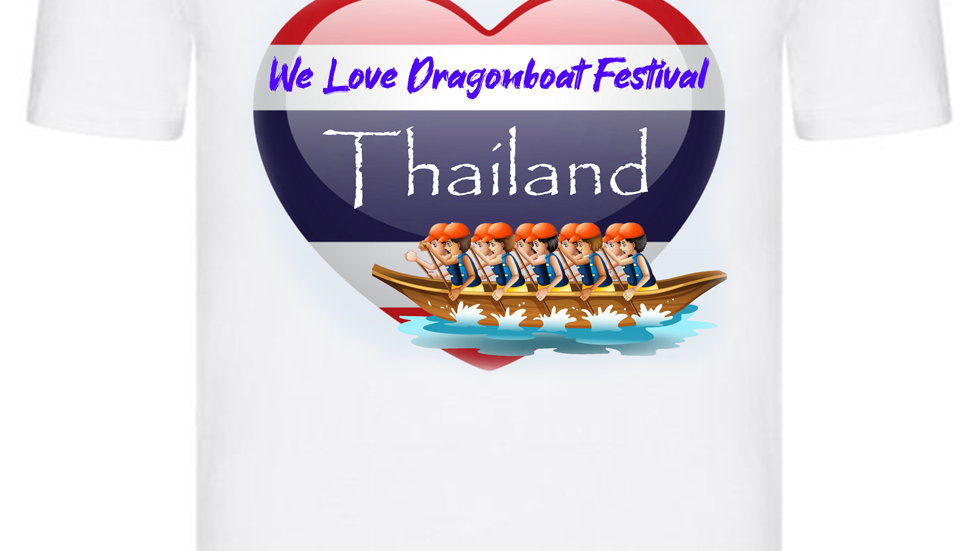 We Love Dragonboat Festival Thailand T-shirt Orange Hats