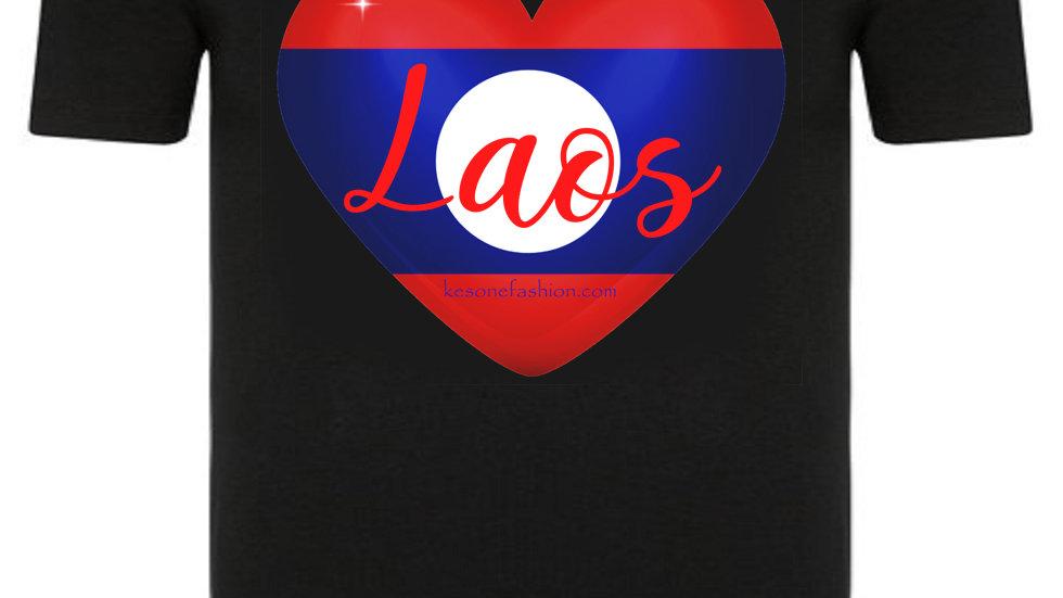 Love Laos Black T-shirt