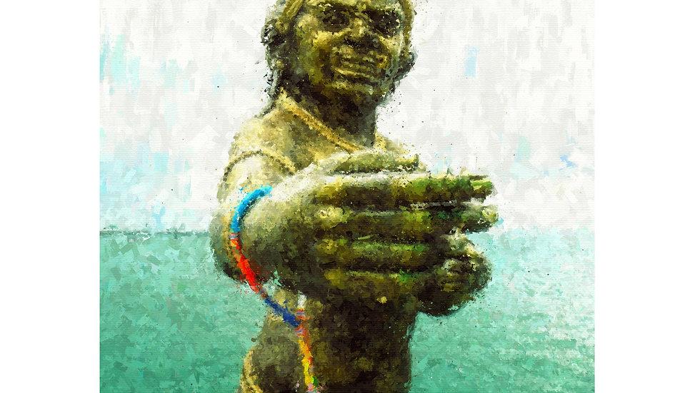 Pee Seua Samut - Giant Goddess Sea Warrior 003 Painting