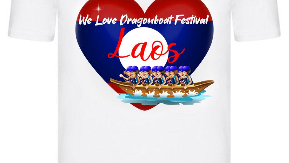 We Love Dragonboat Festival Laos T-shirt Blue Hats