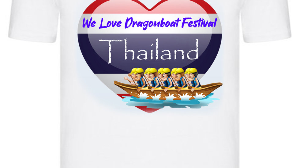 We Love Dragonboat Festival Thailand T-shirt Yellow Hats