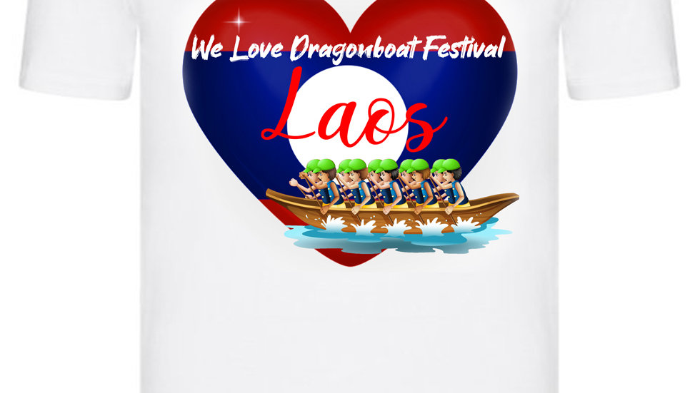We Love Dragonboat Festival Laos T-shirt Green Hats