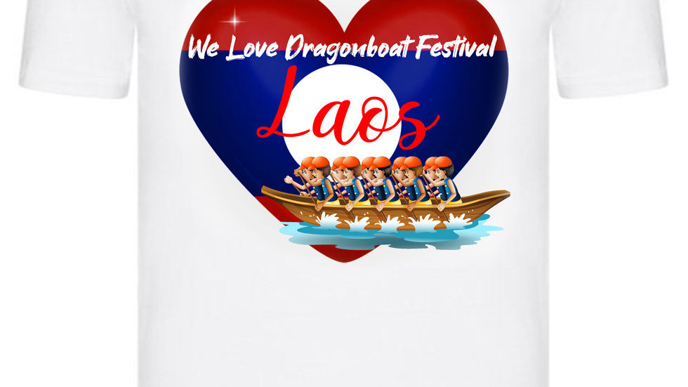 We Love Dragonboat Festival Laos T-shirt Orange Hats