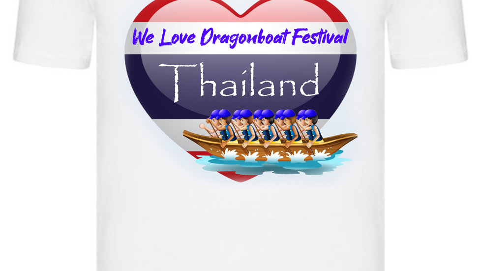 We Love Dragonboat Festival Thailand T-shirt Blue Hats