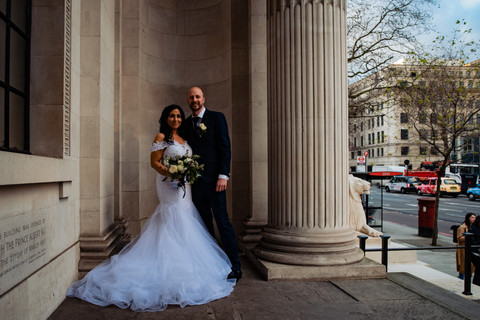 Couple at Old Marylebone Town Hall