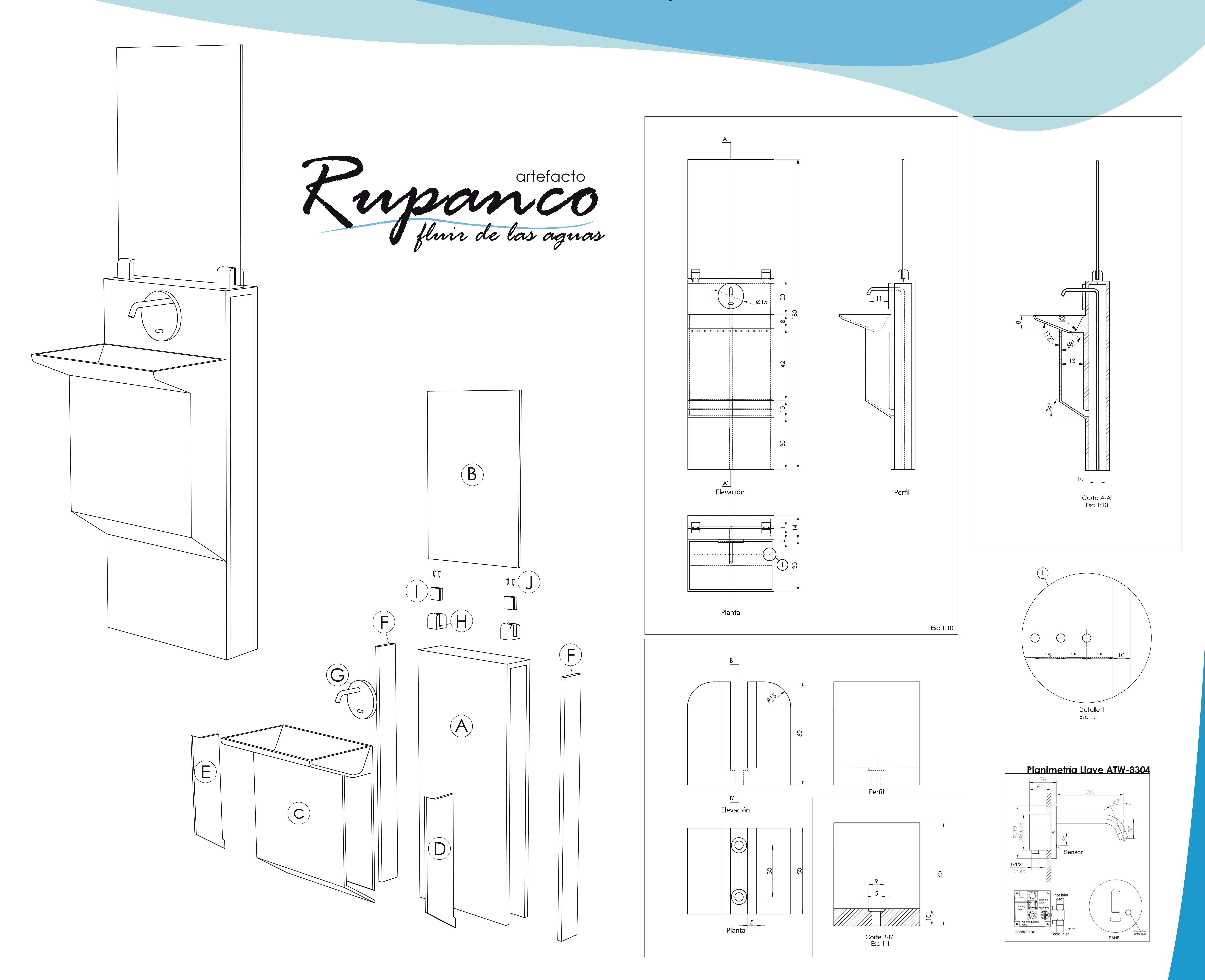 Rupanco technical drawings