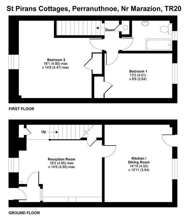 Floor plan of the cottage