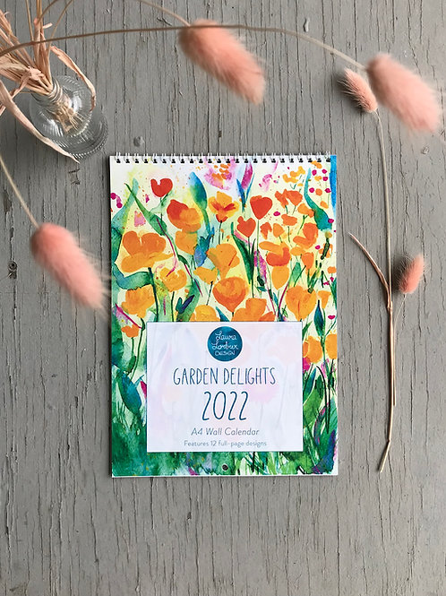 Garden Delights 2022 Wall Calendar