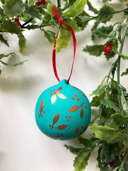 Ceramic Ornament in Turquoise