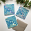 Thumbnail: Light Blue & Coral Happy Holidays Card