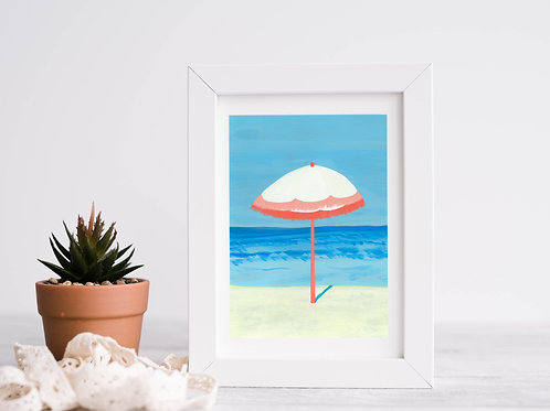 Sun Umbrella Art Print