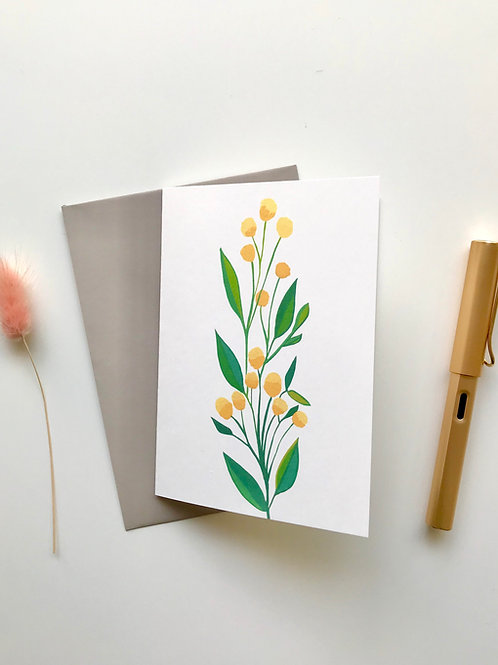 Golden Wattle A6 Greeting Card