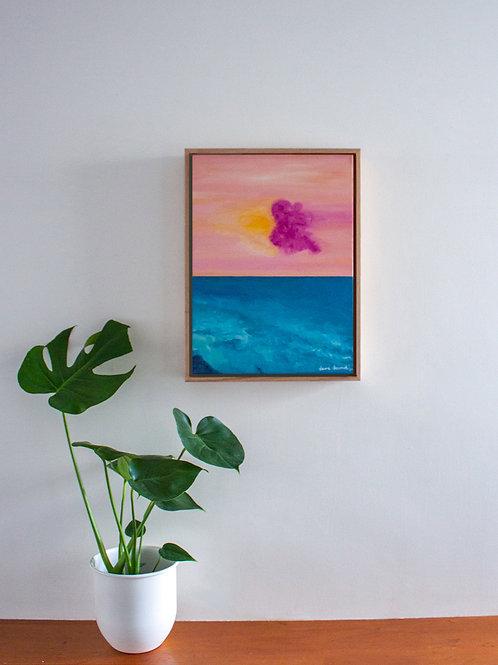 'Mango Raspberry Sorbet' Original Oil Painting