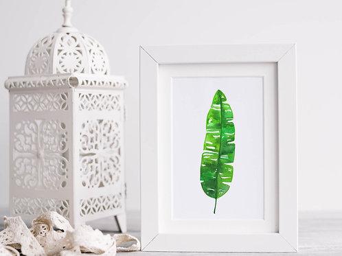 Banana Leaf Tropical Art Print