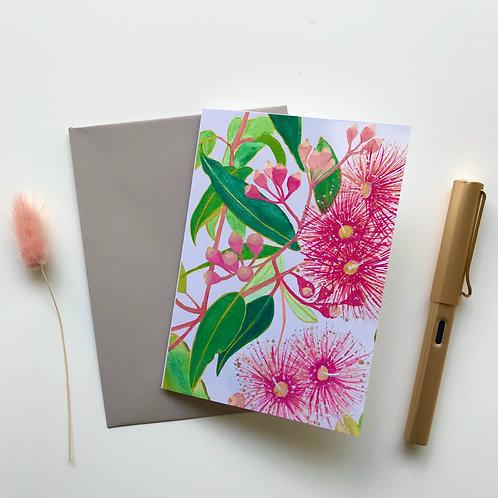 Pink Gum A6 Greeting Card