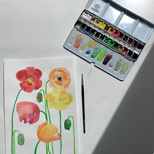 Poppies II Original Painting
