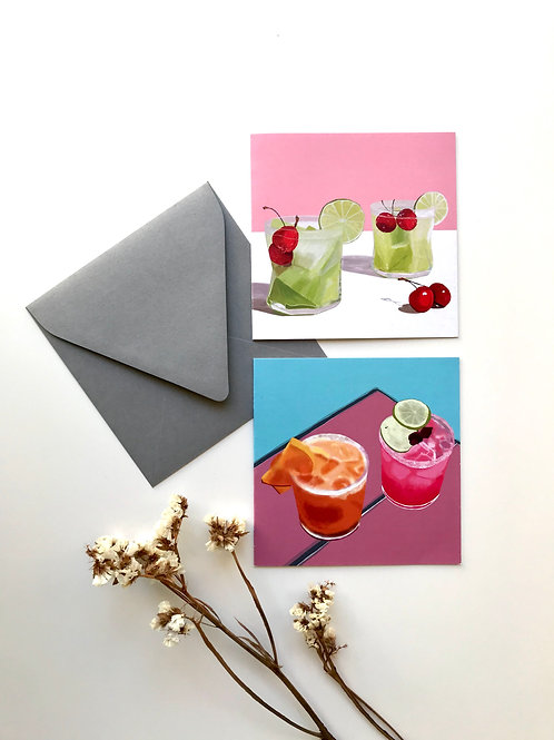 Cocktail Time | Set of 2 Greeting Cards