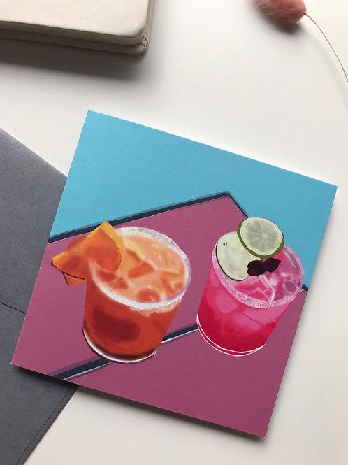 Margarita Time Greeting Card