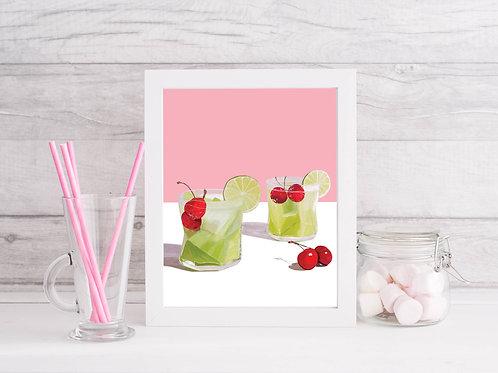 Melon Cooler Cocktail Art Print