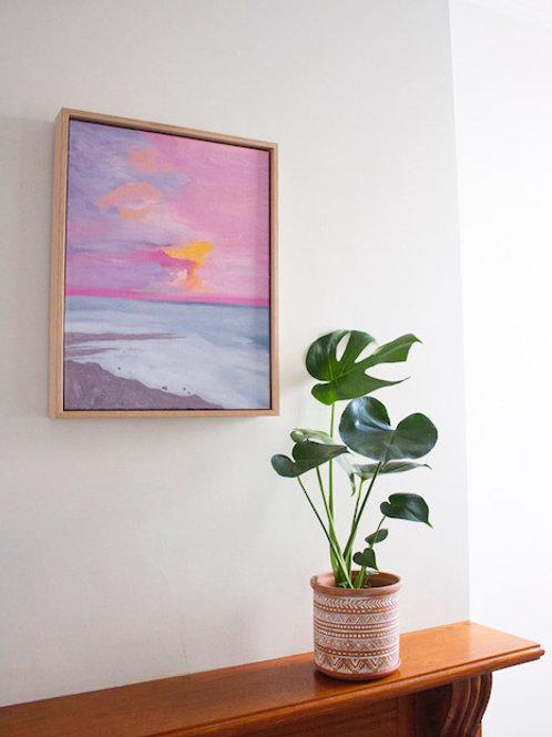 'Fairy Floss Sky' Original Oil Painting