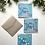 Thumbnail: Light Blue & Pink Happy Holidays Card