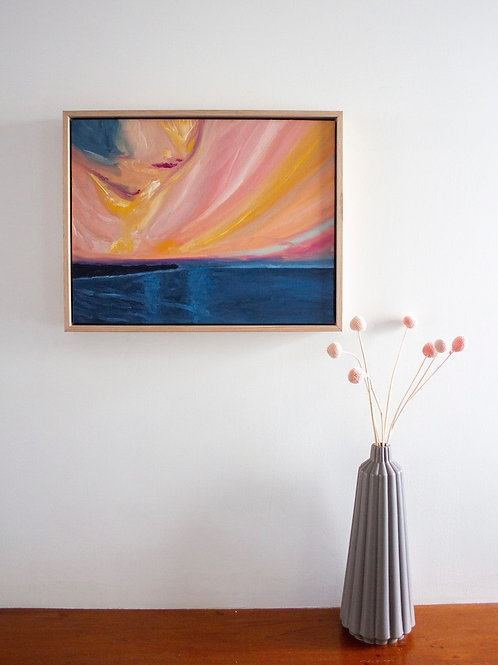 'Fire Rainbow' Original Oil Painting