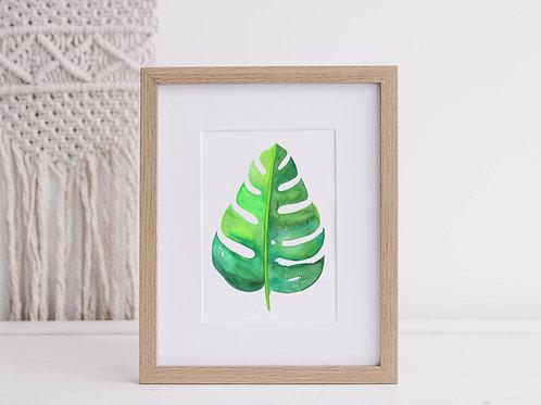 Monstera Tropical Art Print