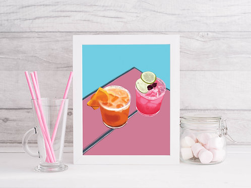 Margarita Time Art Print