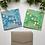 Thumbnail: Light Green & Coral Happy Holidays Card