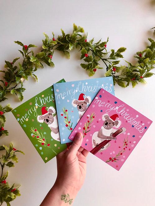 Koala Christmas Card Set of 3