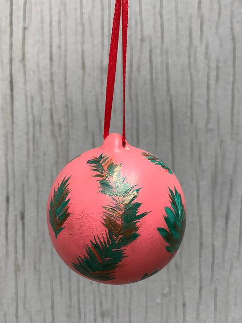 Coral Christmas Ceramic Ornament