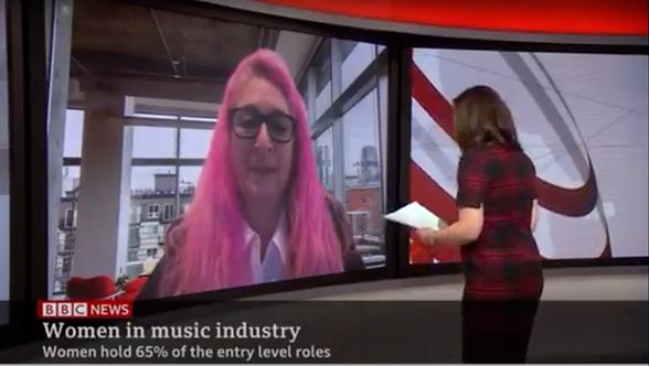 Karen on BBC World TV - MTN launch 2021.