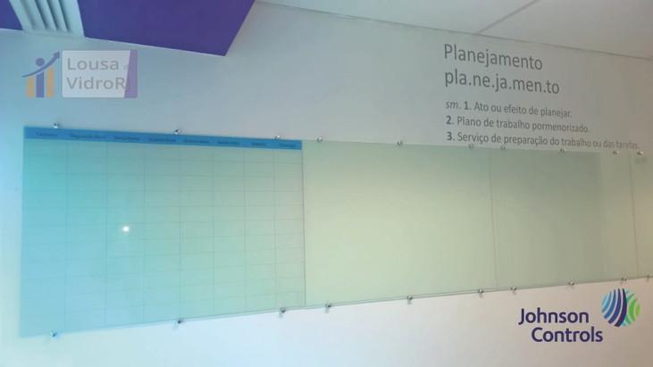 Lousa de vidro tipo planejamento - JCI
