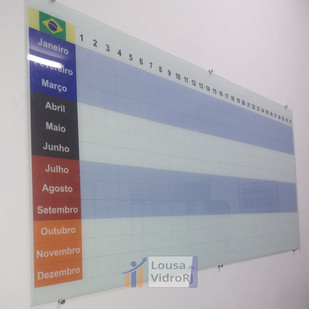 Lousa de vidro Planejamento anual