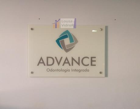 Painel de vidro consultório de odontolog