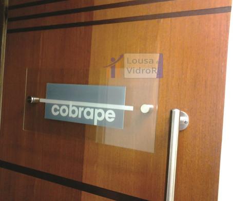 Placa de vidro para porta