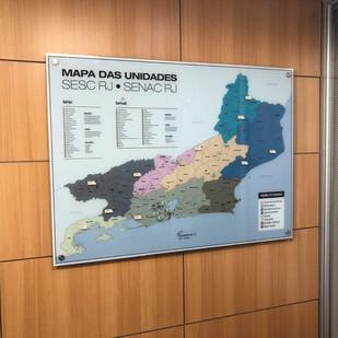 Quadro magnético Mapa