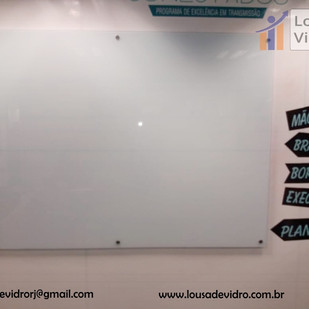 Lousa de vidro - TV Globo