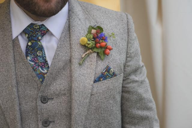 Button Flower Groom - Pippa and Dick 201