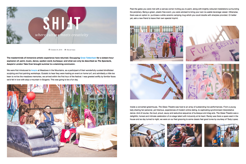 Aespia, London Takeover || Shift Magazine Review