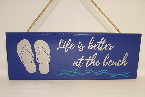 Life is Better at the Beach Wall Hanging